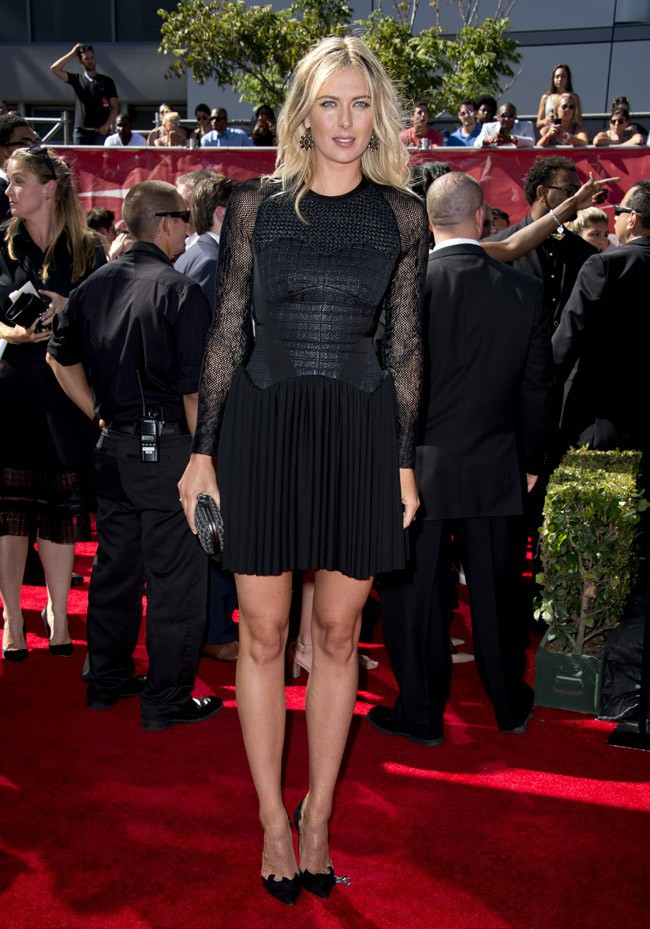 Maria Sharapova à la cérémonie des ESPYs organsiée à Los Angeles le 16 juillte 2014