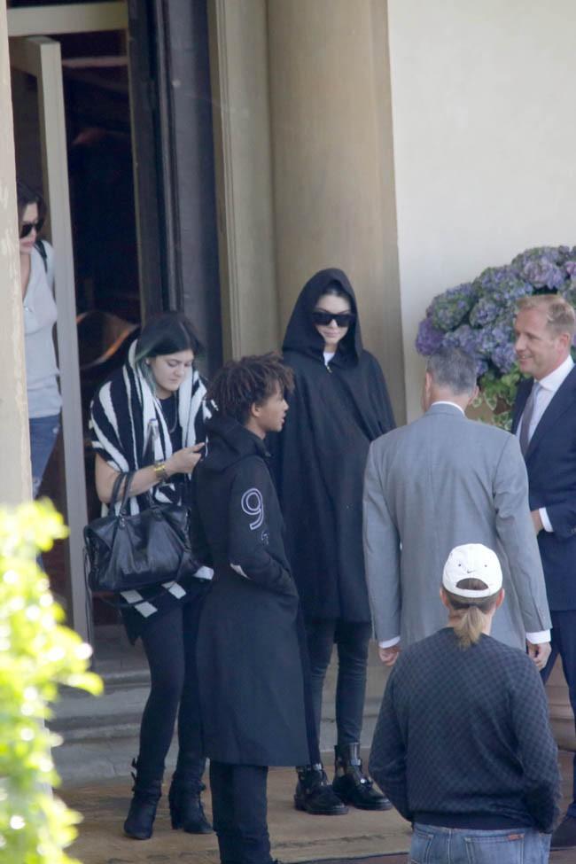 Kendall, Kylie et Jaden à Florence le 25 mai 2014