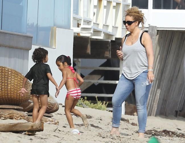 Mariah Carey à Malibu le 3 août 2015