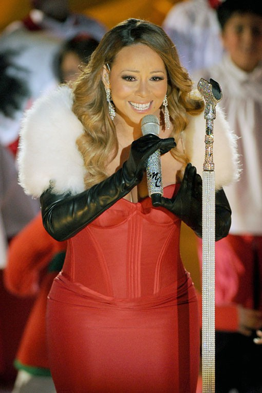Mariah Carey au Rockfeller Center de New-York le 3 décembre 2013
