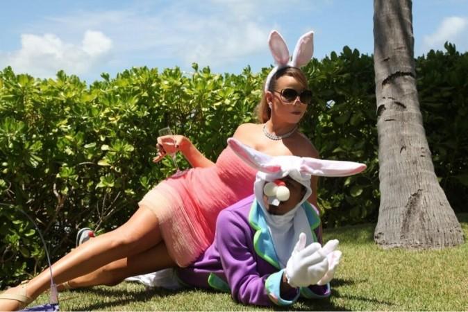 Mariah Carey et Nick Cannon déguisés pour Pâques !