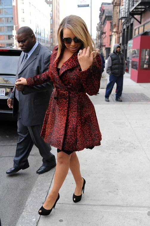 Mariah Carey à New-York le 1er mars 2013
