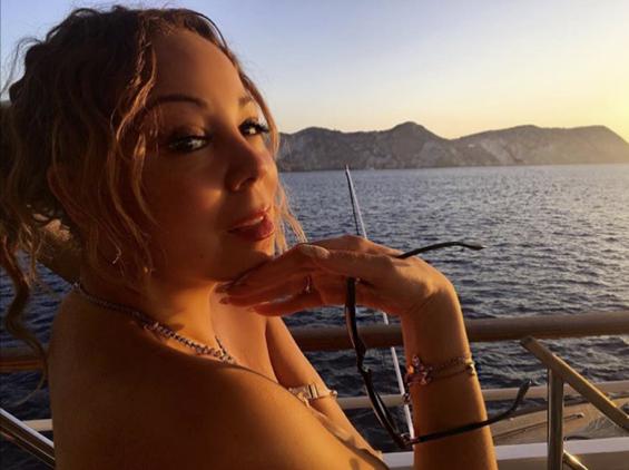 Mariah Carey en vacances à Ponza et Capri avec ses enfants et son fiancé, le 8 juillet