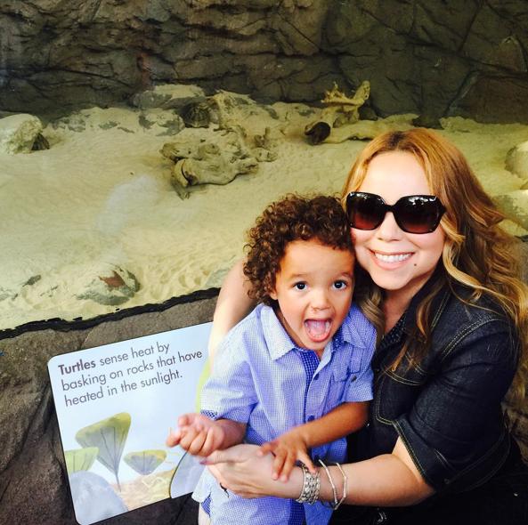 Mariah Carey, Monroe et Moroccan le 7 septembre