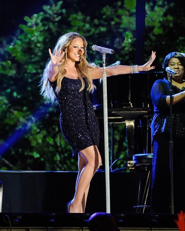 """Mariah Carey aux répétitions du concert """"Macy's Fourth of July Fireworks Spectacular"""" à New York, le 3 juillet 2013."""