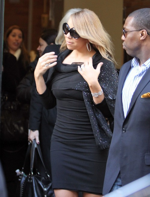 Mariah Carey quittant les studios de l'émission Good Morning America à New York, le 20 février 2012.