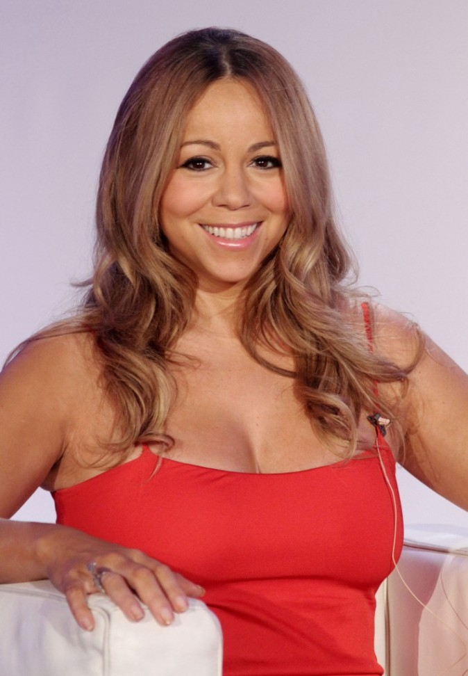 Mariah Carey lors de la conférence de presse Jenny à New York, le 9 novembre 2011.