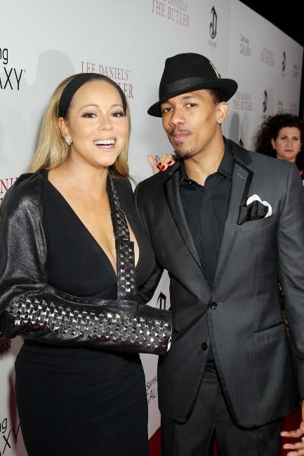Mariah Carey et son mari Nick Cannon lors de la première du film The Butler à New York, le 5 août 2013.
