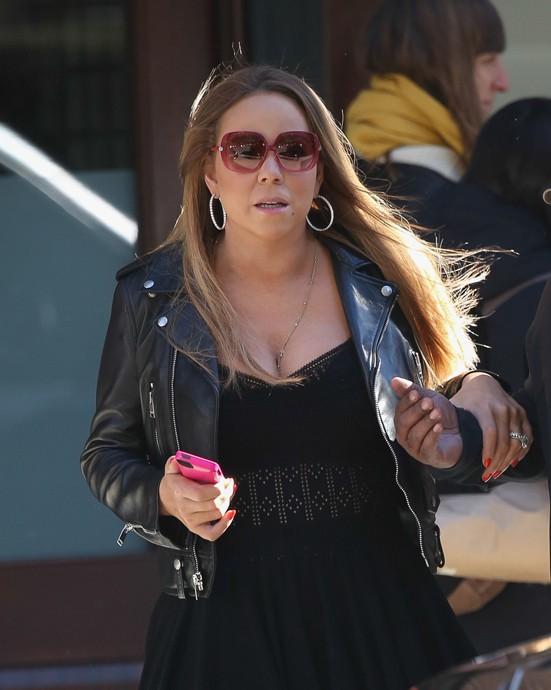 Mariah Carey à New-York le 4 novembre 2013
