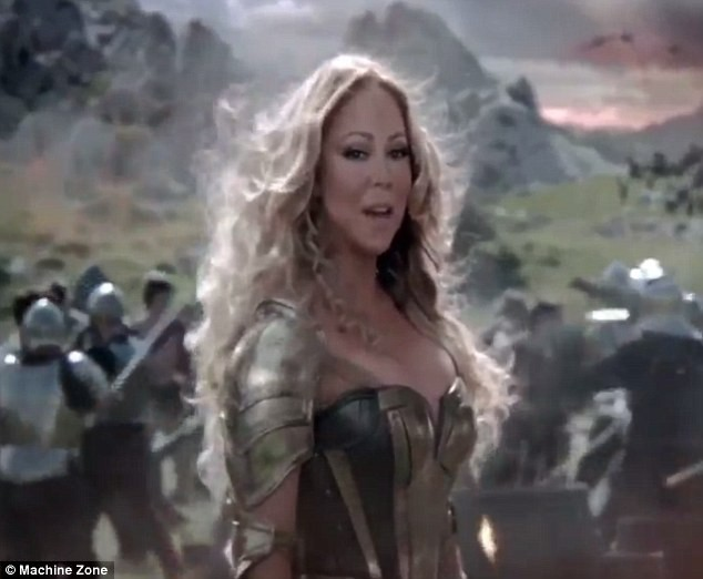 Publicité Game of War avec Mariah Carey