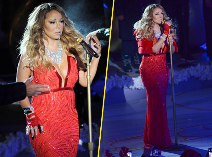 Mariah Carey à New York le 3 décembre 2014