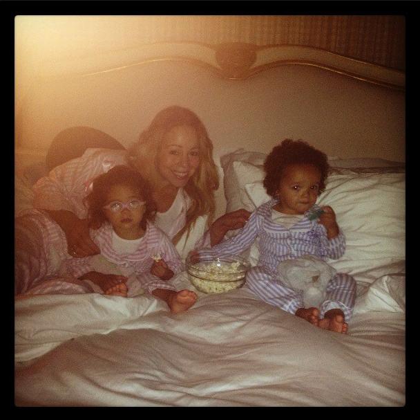 Mariah Carey et ses enfants Monroe et Moroccan