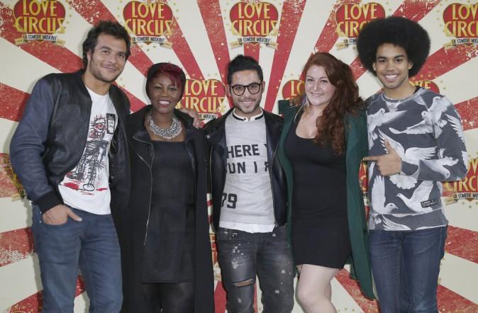 Amir, Stacey King, Alban Bartoli, Juliette Moraine et Gwendal Marimoutou