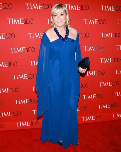 Marine Le Pen à New-York le 21 avril 2015