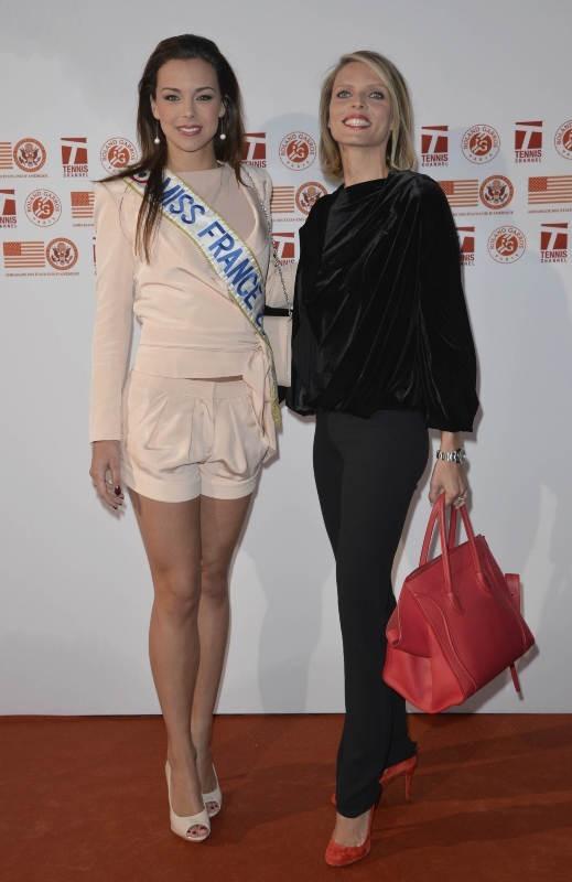 Marine Lorphelin et Sylvie Tellier le 24 mai 2013 à Paris