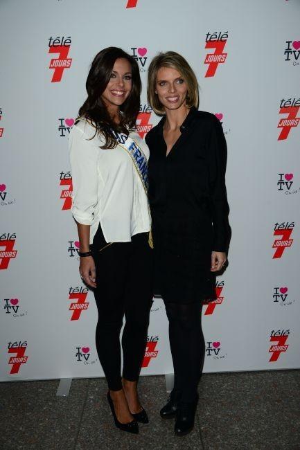 Marine Lorphelin et Sylvie Tellier le 12 décembre 2012 à Paris