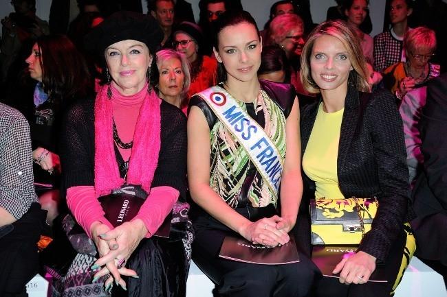 Marine Lorphelin, Sylvie Tellier et Annie Duperey le 4 mars 2013 à Paris