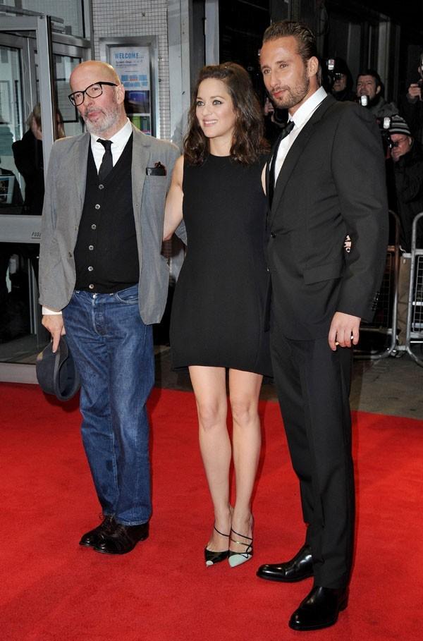 Marion Cotillard sur le tapis rouge de De rouille et d'os au 56th BFI London Film Festival le 13 octobre 2012