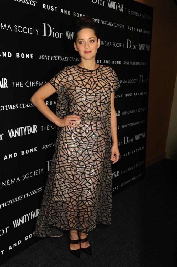 Marion Cotillard le 8 novembre 2012 à New York