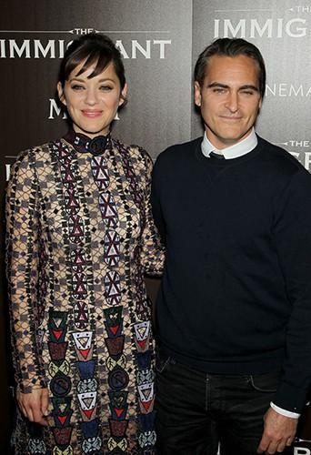 Marion Cotillard et Joaquin Phoenix à New York le 6 mai 2014
