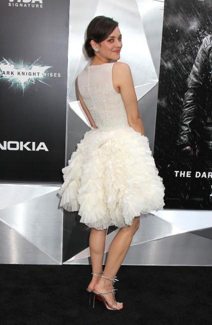 """Marion Cotillard lors de la première de """"The Dark Knight Rises"""" à New York, le 16 juillet 2012."""
