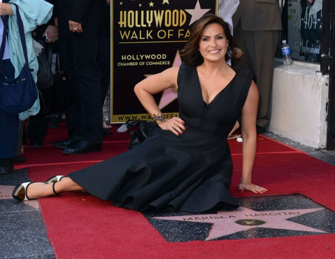 Mariska Hargitay sur le Walk of Fame d'Hollywood le 8 novembre 2013