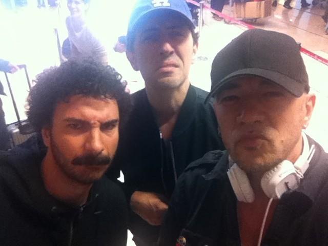 Mickaël, Gad et Pascal Obispo