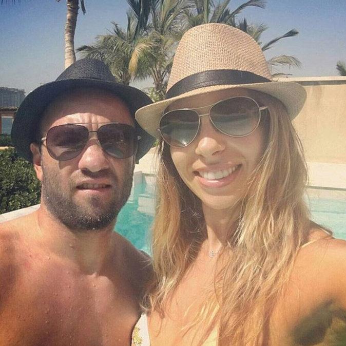 Mathieu Valbuena en vacances à Dubaï avec sa compagne Fanny