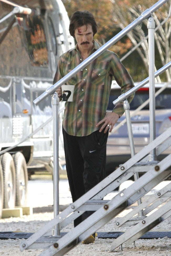 Matthew McConaughey sur le tournage de The Dallas Buyers Club à La Nouvelle-Orléans le 19 novembre 2012