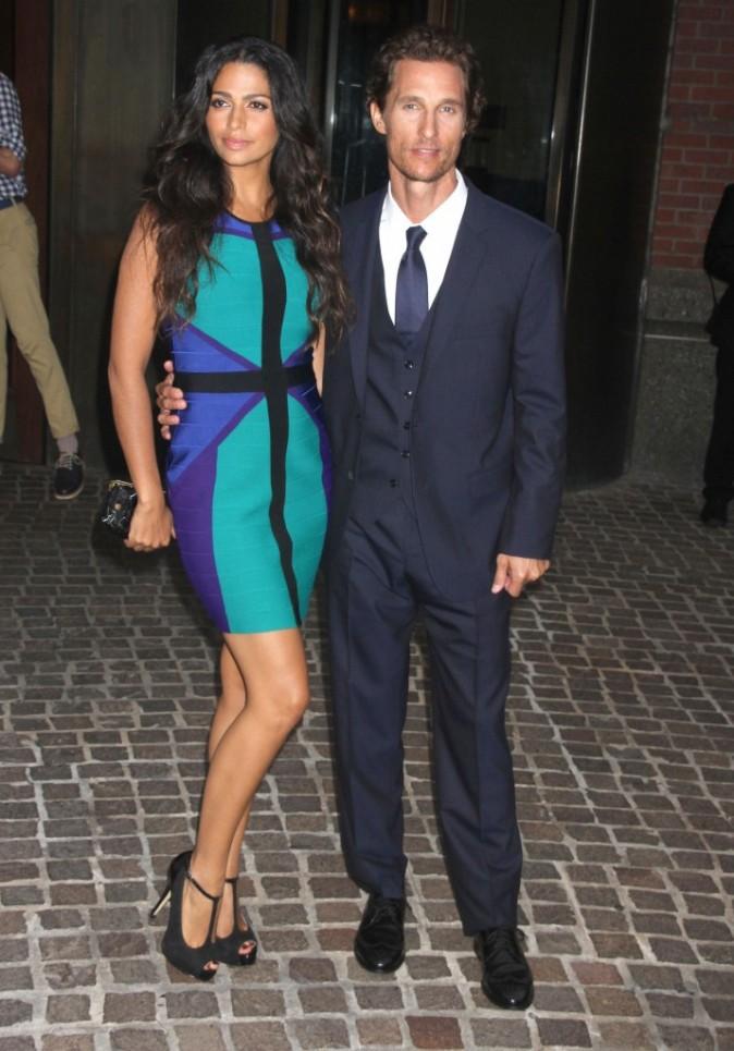 Camila Alves et Matthew McConaughey à la première de Killer Joe à New York, le 23 juillet 2012.