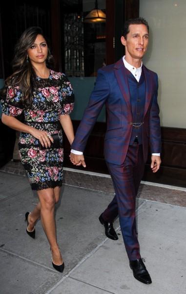 """Matthew McConaughey et Camila Alves lors de la première du film """"Mud"""" à new York, le 21 avril 2013."""