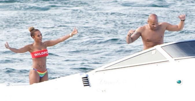 Mel B et son mari Stephen Belafonte à Sydney le 17 mars 2014