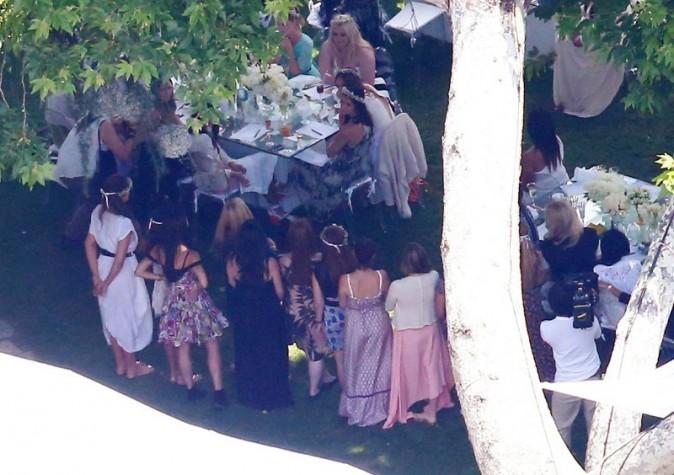 Baby shower de Kim Kardashian à Los Angeles, le 2 juin 2013.