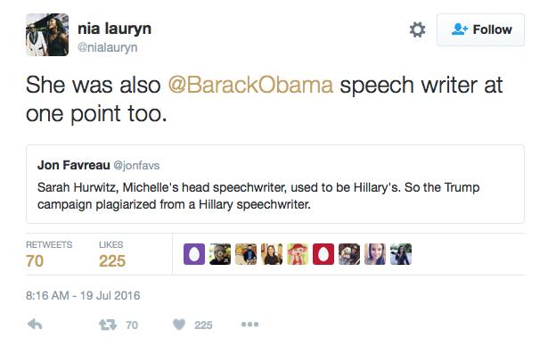 Les stars réagissent suite au discours de Melania Trump