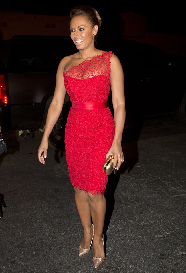Melanie Brown super glamour le 21juillet 2012 à Los Angeles