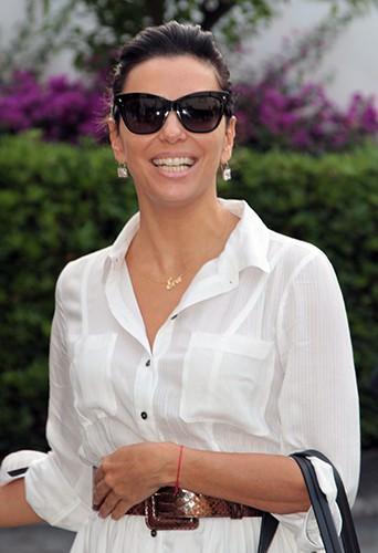 Eva Longoria à Taormine le 16 juin 2014