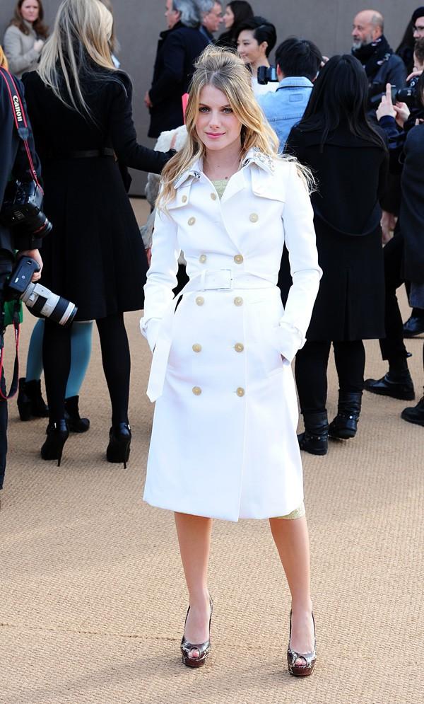 Mélanie Laurent au défilé Burberry organisé à Londres le 17 février 2014