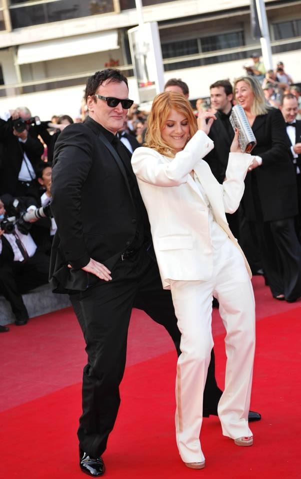 ...Qui danse sur le red carpet à Cannes avec Quentin Tarantino !