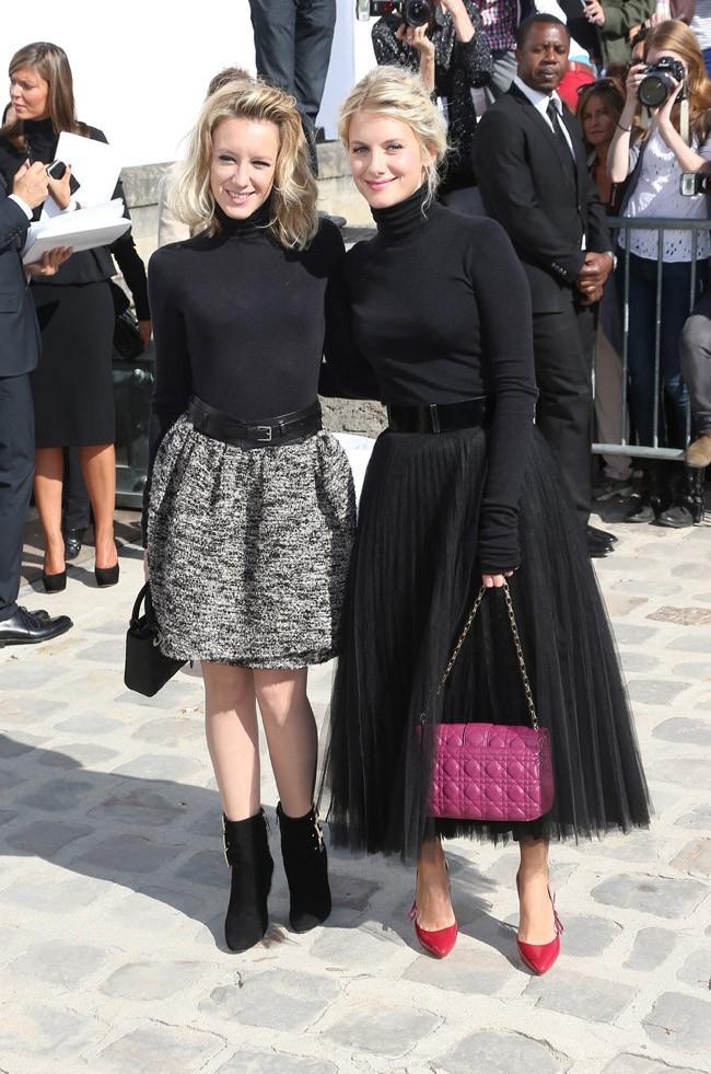 Mélanie Laurent et Ludivine Sagnier le 28 septembre 2012 à Paris