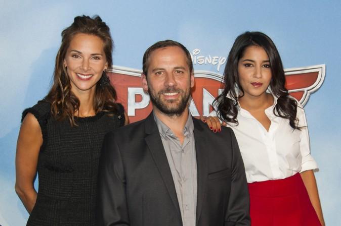 Mélissa Theuriau, Fred Testot et Leïla Bekhti à l'avant-première de Planes à Paris le 24 septembre 2013