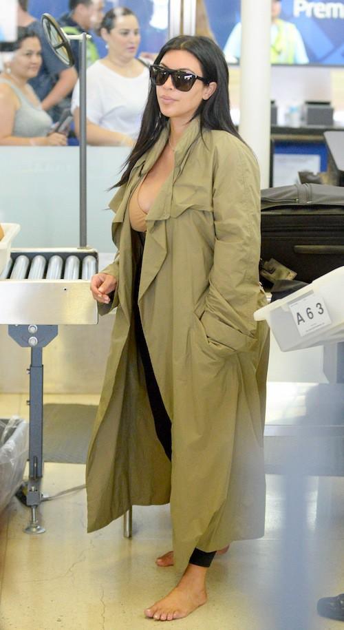 Photos : enceinte, Kim Kardashian ne renonce pas au décolleté !