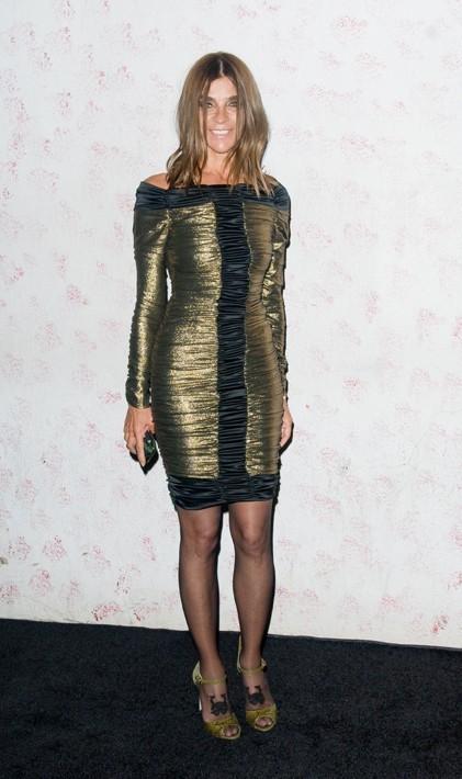 Carine Roitfeld lors du défilé Barneys New York à New York, le 10 septembre 2011.