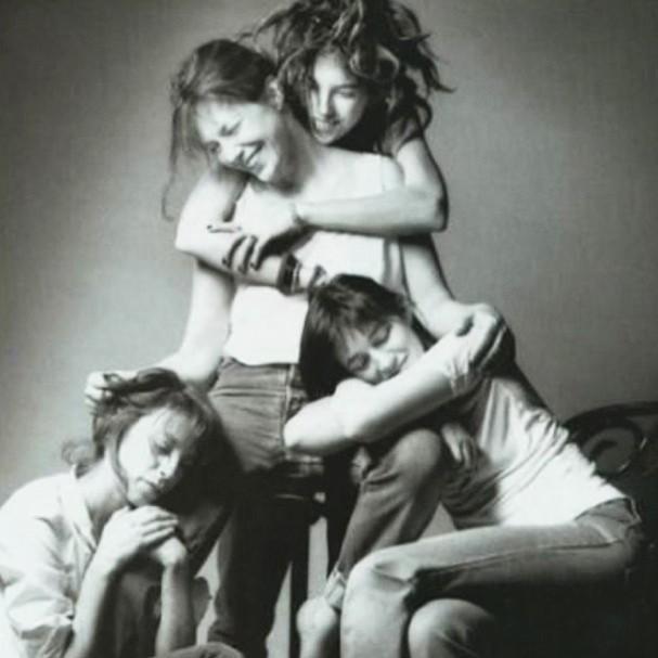 Lou Doillon, Jane Birkin, Charlotte et Kate