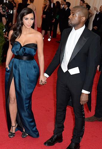 Kim Kardashian et Kanye West à New York le 5 mai 2014