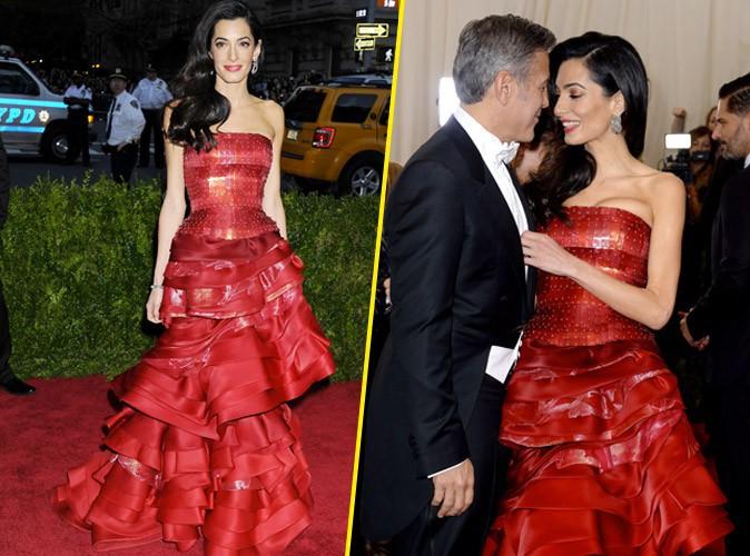 Photos : Met Gala 2015 : Amal Clooney : amoureuse et pimpante au bras de George Clooney !