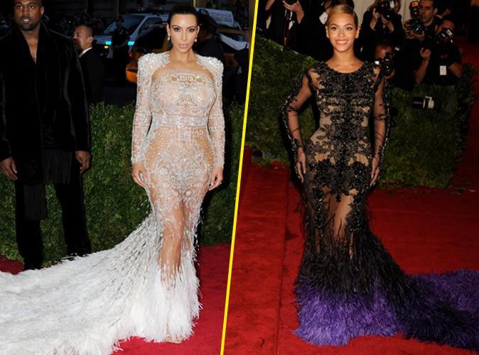 Photos : Met Gala 2015 : Kim Kardashian VS Beyoncé : quand l'une copie l'autre, qui l'emporte ?