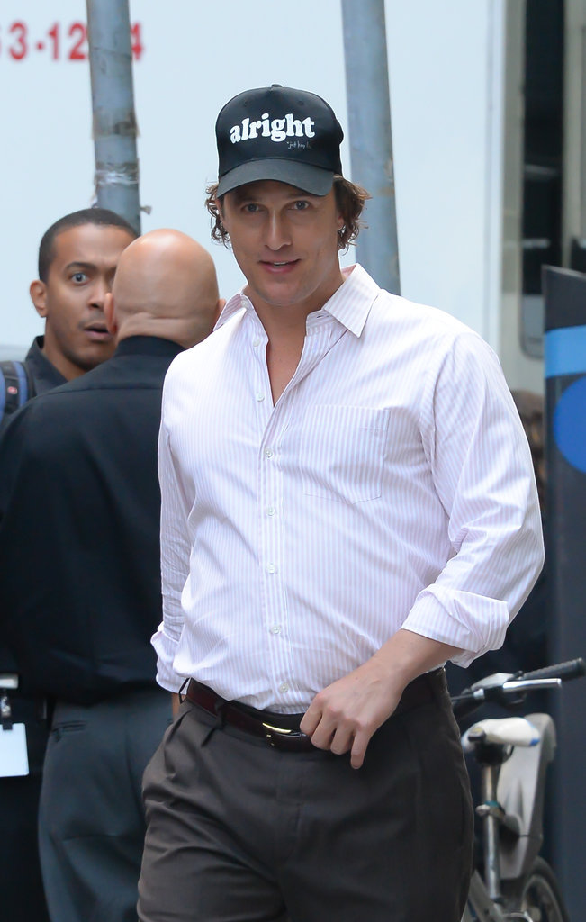 Matthew McConaughey à New-York le 5 octobre 2015