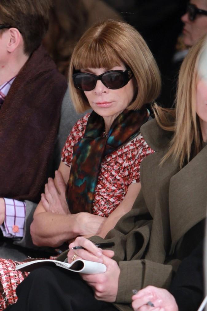 Anna Wintour lors du défilé Oscar De La Renta à New York, le 16 février 2011.