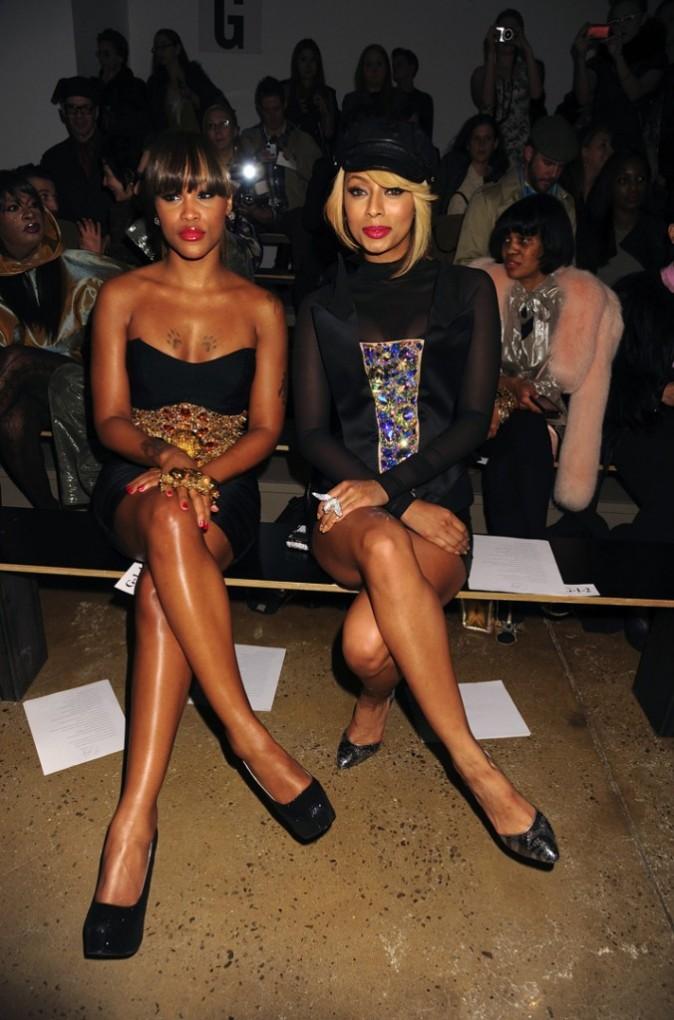 Eve et Keri Hilson lors du défilé The Blonds à New York, le 16 février 2011.
