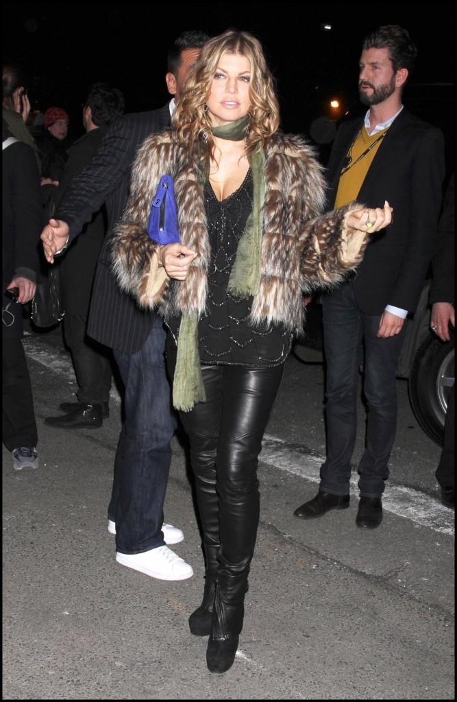Fergie lors de la Mercedes-Benz Fashion Week de New York, le 16 février 2011.